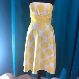 Beautiful sunshine yellow, strapless, dress🌼